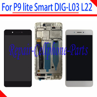 5.0 inch Full LCD DIsplay+Touch Screen Digitizer frame Cover Assembly For Huawei P9 lite Smart DIG L03 DIG L22 DIG L23