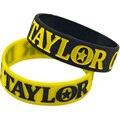 """50 Unids/lote Taylor Gang Or Die 1 """"Wide Band Pulsera de Silicona Regalo de La Promoción"""