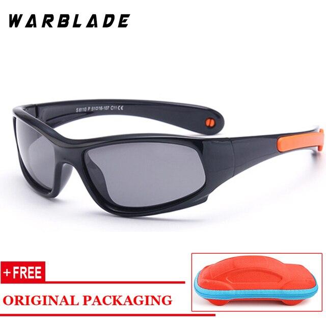be3e8222cd141 Niños de alta calidad gafas de sol polarizadas con cadena de silicona  seguridad gafas de sol niño niña deporte gafas Oculo WarBLade