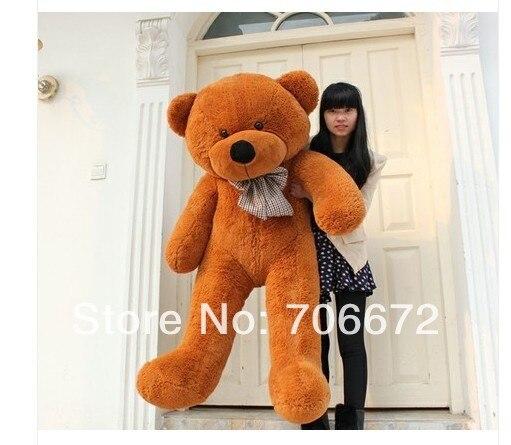 ФОТО New stuffed dark brown teddy bear Plush 140 cm Doll 55 inch Toy gift wb8465