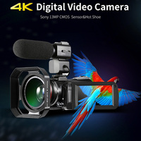 AC3 4K Video Camera 13.0MP 30X WIFI Professional Digital Camera Night Vision Touch screen Camcorder Wide Angle Lens+Microphone