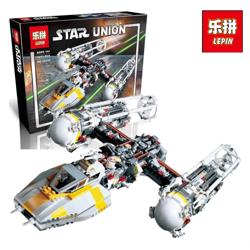 LEPIN 05040 1473Pcs Star - Y- War Attack wing Starfighter Model Building Kits Blocks Bricks Boy Toy Compatible legoINGlys 10134 lepin 05040 y attack starfighter wing building block assembled brick star series war toys compatible with 10134 educational gift