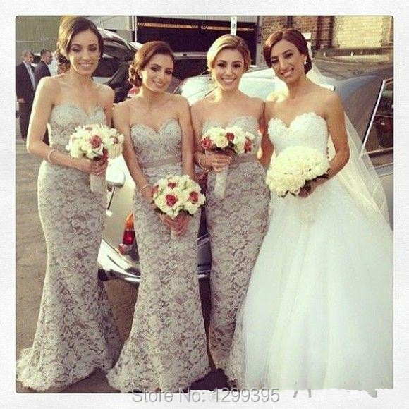 Inexpensive Strapless Mermaid Lace Junior Bridesmaid Dresses Wedding Party  Dress Cheap Bridesmaid Dress d8d1f6517e90