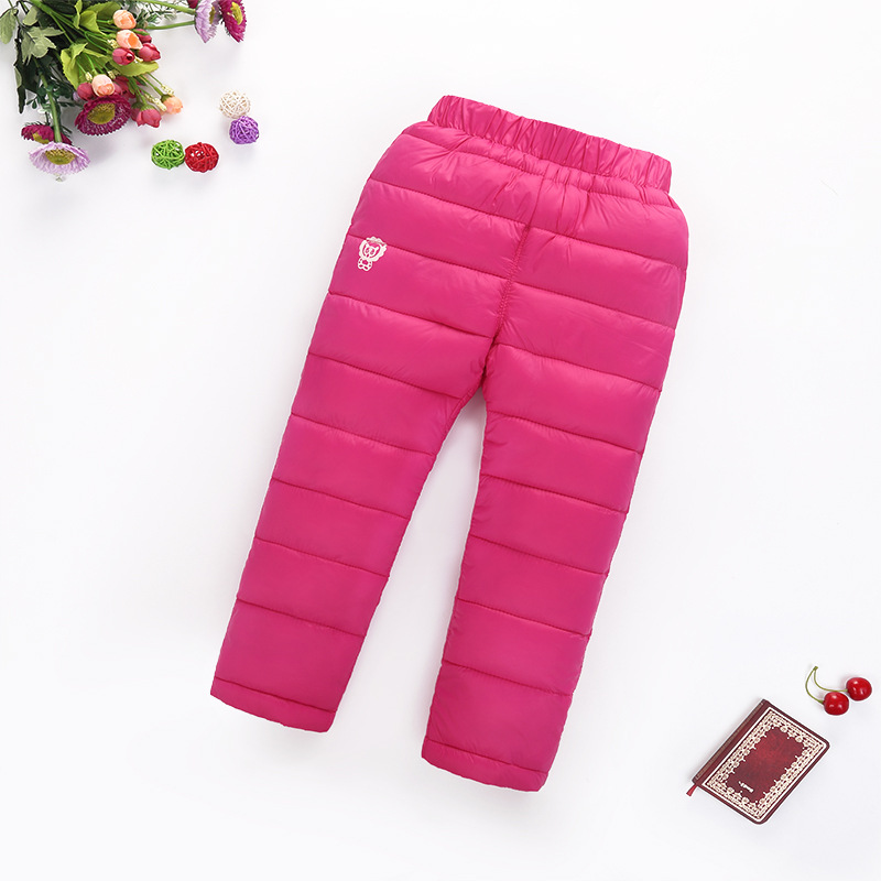 2016 new winter children s clothing kids down pants baby boys and girls casual sport pants