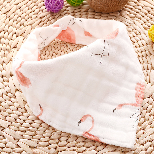 Cartoon Patterned Triangular Baby Bib