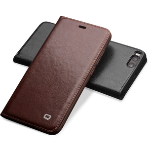 Image 3 - Qialino Real Genuine Leather Case for For Xiaomi 6 Mi6 Mi 6 case for Xiaomi Mi6 Flip Cover Wallet Card Slot Phone Bag