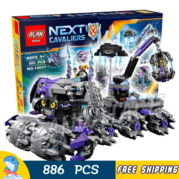 886pcs New Knights Jestro's Headquarter 3D DIY 10597 Model Building Blocks Boys Assemble Toys Nexus Bricks Compatible with Lego