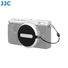 JJC CS X70 Lens Black Cap Keepers (Nappa couro) Tampa Da Lente Da Câmera Clipe para Fujifilm X70 Tampa Original Lente