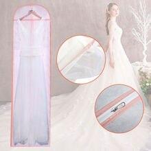 Практичная Мода невесты свадебное платье дышащее пылезащитное длинное платье чехол сумка для хранения Высокое качество