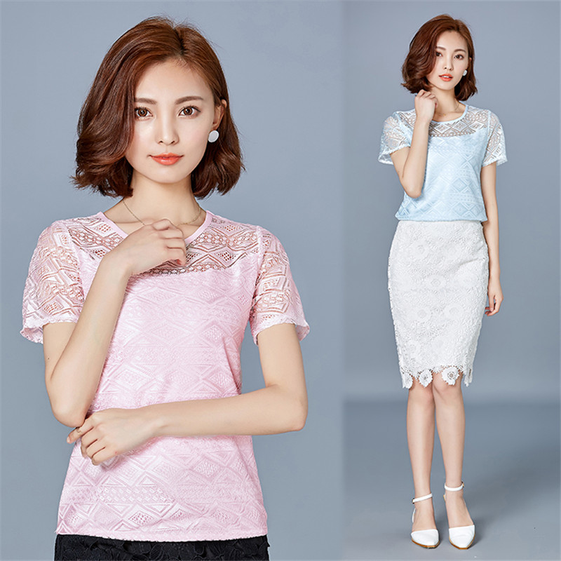 HTB1rwsOPpXXXXcHXVXXq6xXFXXXK - New women tops lace chiffon blouse korean office female clothing