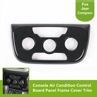 Accesorios para Interiores de automóviles Marco Del Panel de Tablero de Control de la Consola de Aire Acondicionado Ajuste de la Cubierta para Jeep Compass 2017