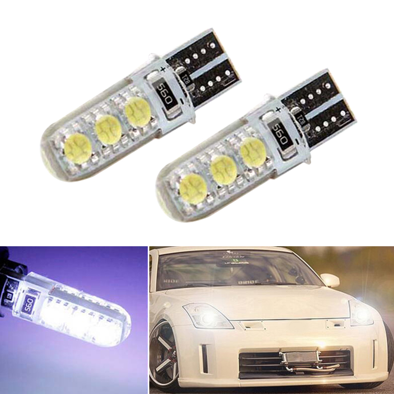 2x Canbus LED T10 W5W Clearance Parking Light Wedge Light For Nissan qashqai tiida new teana SYLPHY note almera juke