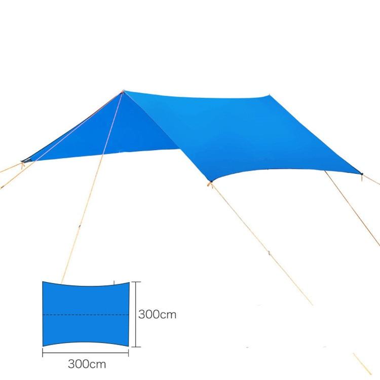 Ultralight Hangmat Luifel Outdoor Camping Plaid Waterdicht Uv Schaduw 3*3 Meter