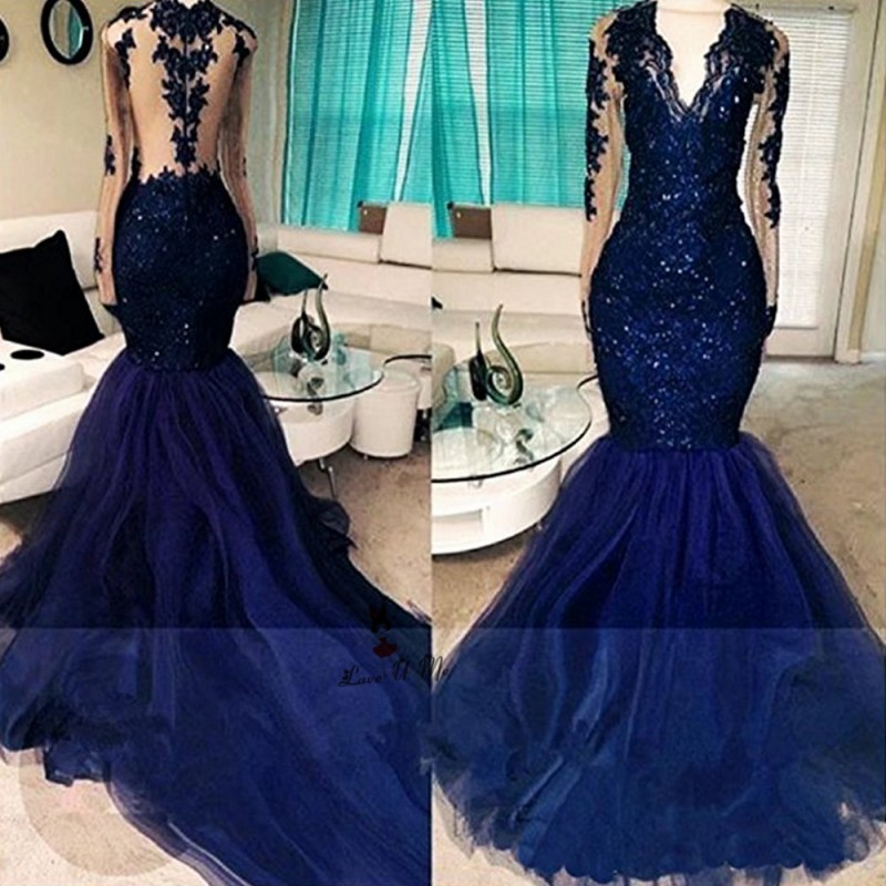 Blue Dresses Black