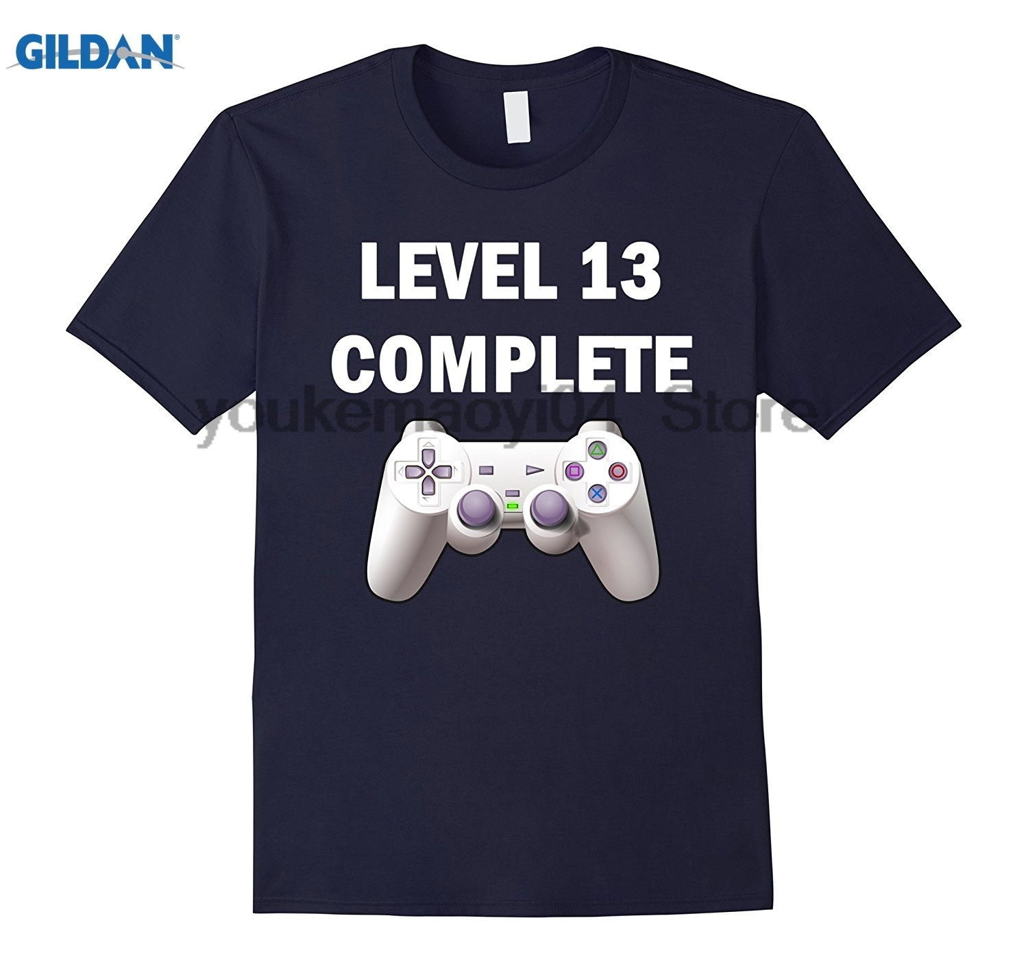 GILDAN Level 13 Complete Funny Video Games 13th Birthday T-Shirt Trendy Creative Graphic T-shirt Top