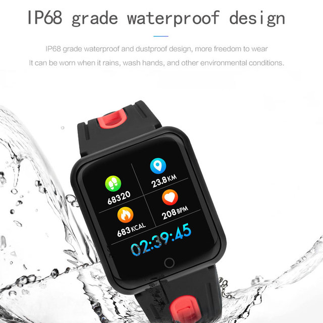 P68 Smart watch band IP68 waterproof smartwatch Dynamic heart rate blood pressure monitor pay by Boleto for Brazil Dropshipping