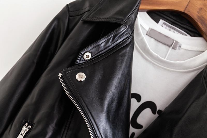 Pu B2 B246 Automne Mode Manteaux Casual En Veste Vêtements Cuir Hiver Taille Pour Noir Plus Femmes 5xl Courts HqSIFq