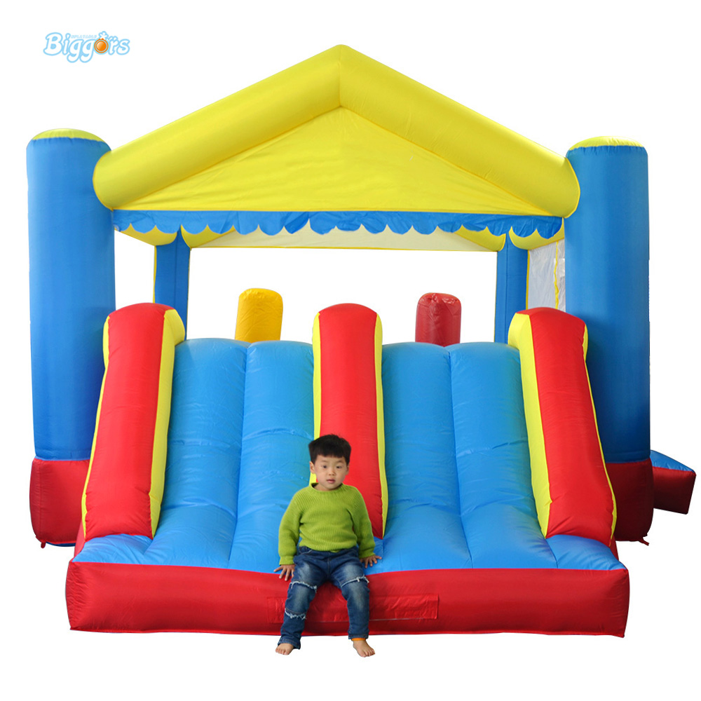 DHL Free Shipping Inflatable Bouncer Bouncy Castle with Dual Slides with Roof for Kids  цены
