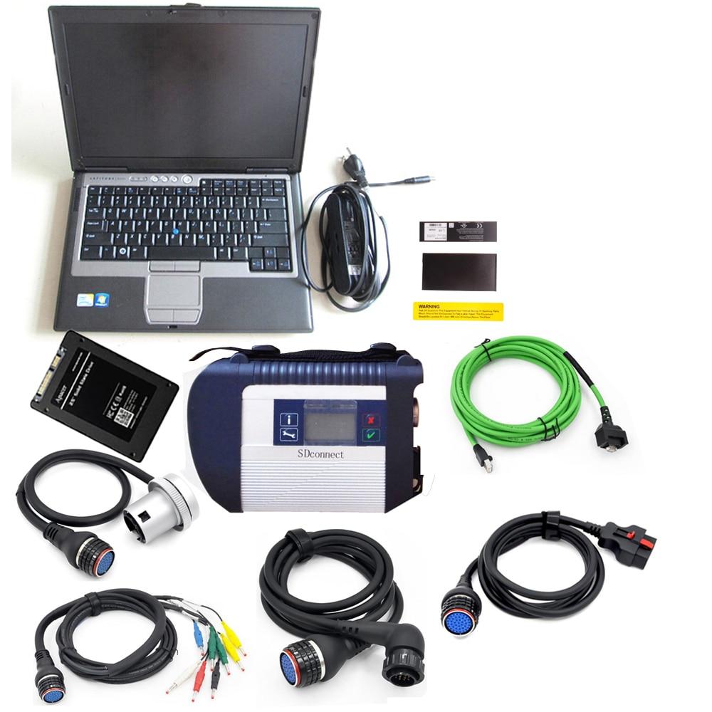 Outil de diagnostic automatique professionnel MB Star C4 avec logiciel ssd 2019.05 et ordinateur portable D630 MB C4 SD connecter Scanner de diagnostic sans fil