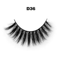 D36 1 Pair Lot Makeup Handmad Natural Fashion False Eyelashes Soft Long Eye Lash Cosmetic