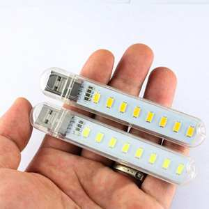 Mini Mobile Power USB LED Lamp For PC Laptop DC5V 8 LED Camping Computer