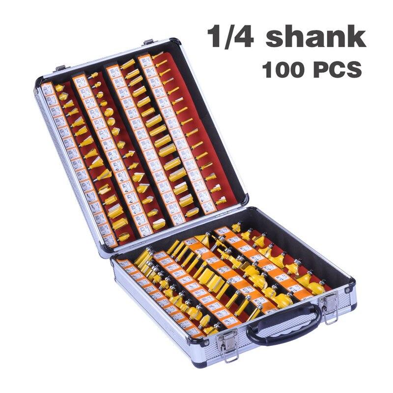 100pcs 1/4 Inch 6.35MM Shank Professtional Engraving Woodworking Milling Cutter Tungsten Carbide ARDEN Router Bit