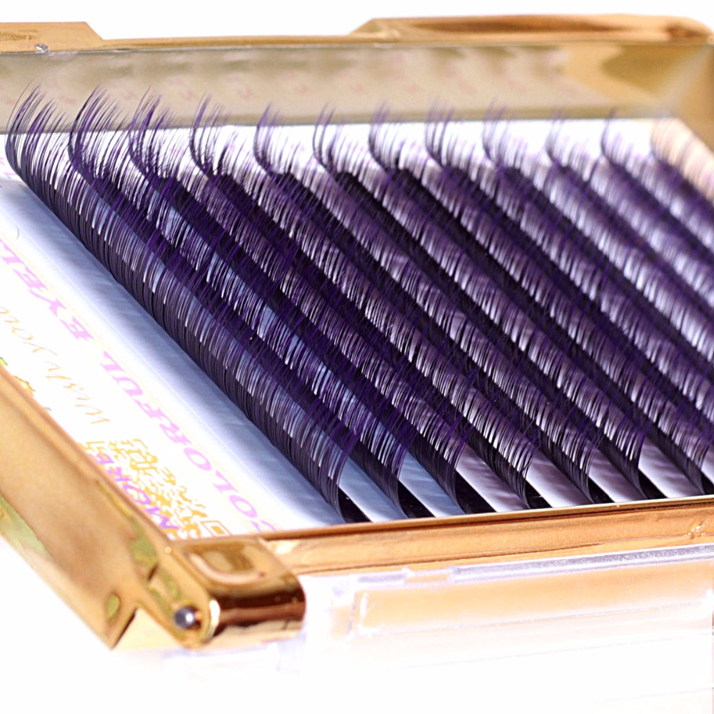 0.10 / 0.15 Gradient Purple false eyelashes, premium colorful individual eyelash extensions for party makeup YoTsaiSpring