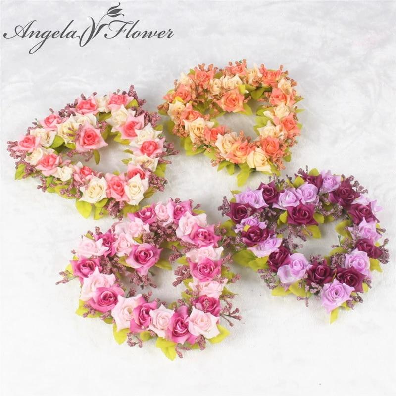 Diy Karangan Bunga Buatan Rose Love Heart Karangan Bunga Mawar Sutra Plastik Flores Wedding Mobil Dekorasi Rumah Hotel Cinta Wreath Motif Bunga Aliexpress