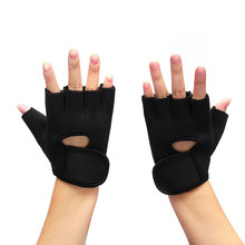1 Pair Unisex Fitness Weight Lifting Gloves Safety Gym Glove Traning Exercise Workout Gloves Sport Pad Protector Half Finger