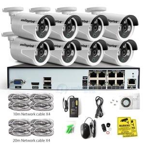 Image 5 - 8CH vrai 48V POE NVR Kit système de vidéosurveillance avec 8 pièces 2.0MP POE IP caméra extérieure IR Vision nocturne système de caméra de Surveillance boîtier en métal