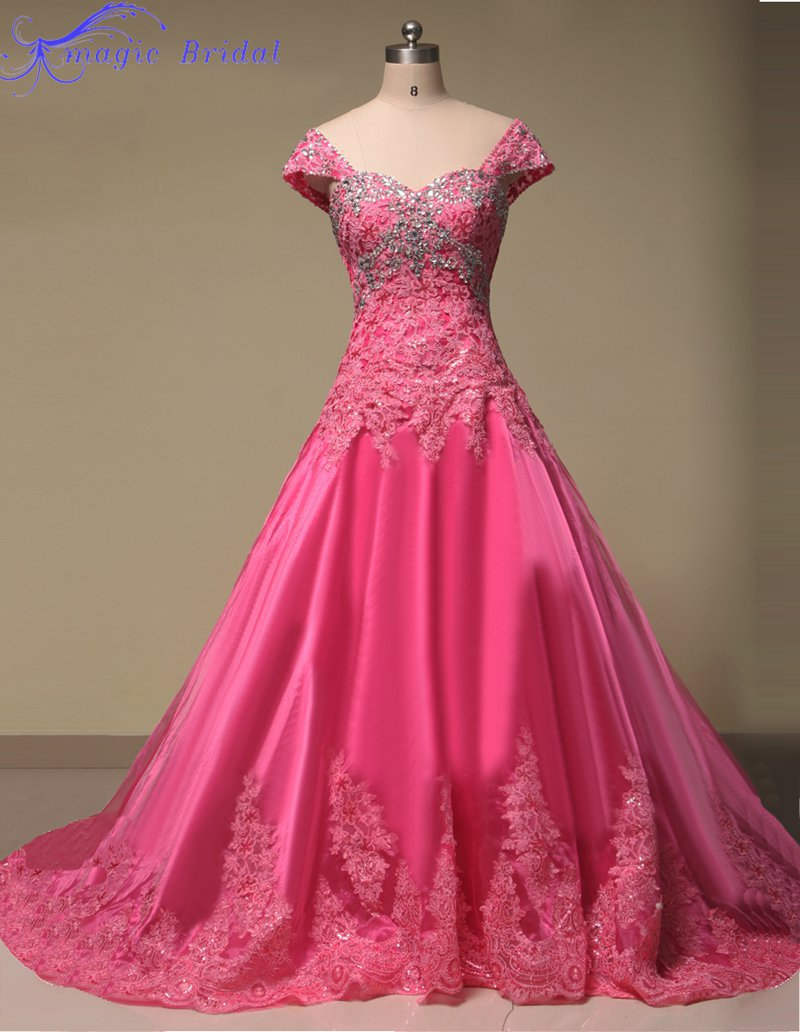Vestido De Noiva Renda vestido de Bola Vestidos de Novia Rojo ...