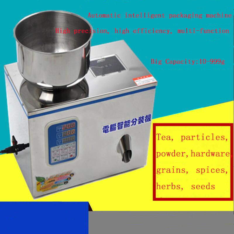 Medicinal powder packaging machine microcomputer automatic packer Tea granule tea leaf packer filling machine herbal tea rose tea superfine powder rose 65g tank fit tea for beauty