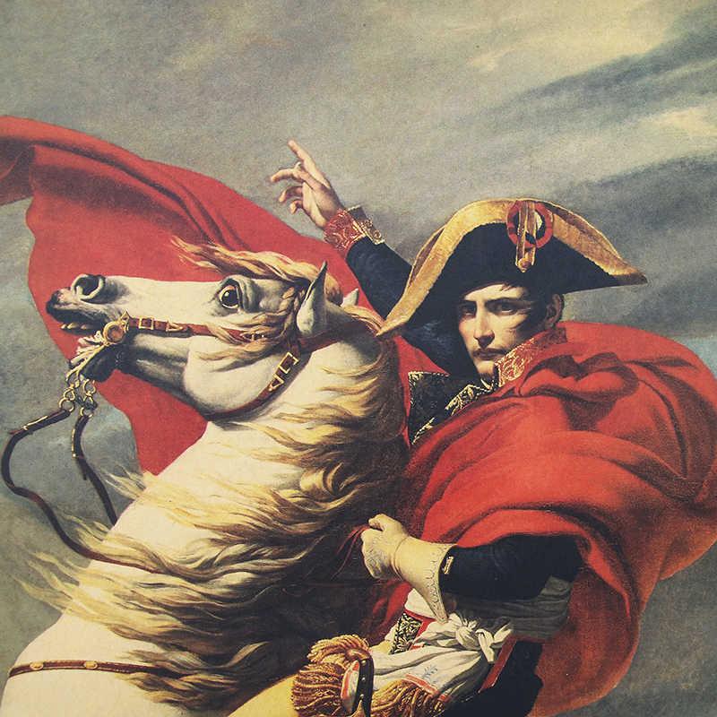 DLKKLB Napoleon Bonaparte Vintage Poster Militär Klassische Film Kunst Dekorative Wand Aufkleber Bar Cafe Home Dekorative Malerei