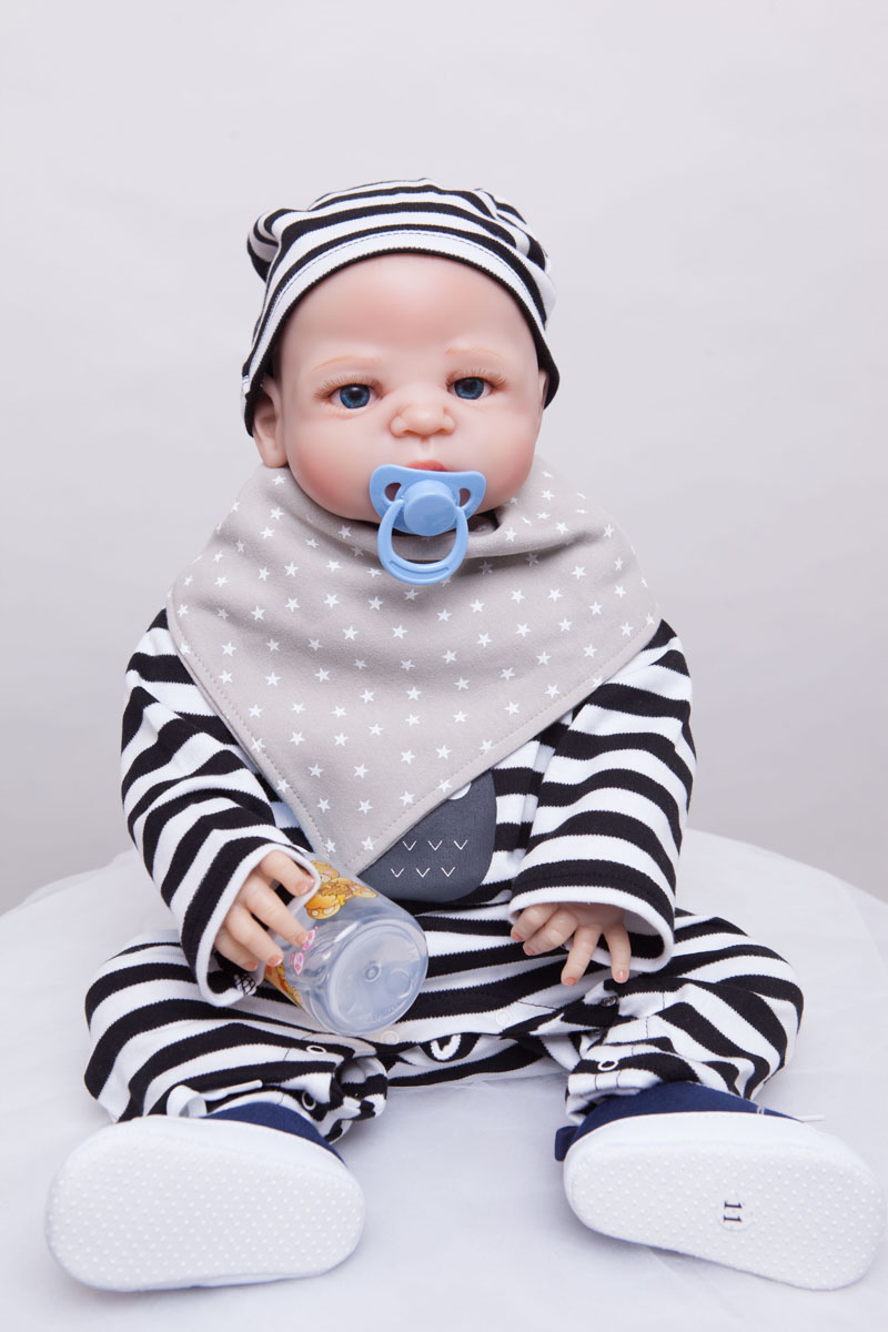 55cm Full Silicone Reborn Boy Baby Doll Toys Bathe Shower Toys Babies Reborn Doll Christmas Present Birthday Gift Girls Brinqued new lovely rabbit baby full silicone reborn babies dolls toys the best birthday present gift for kid child bathe shower toys
