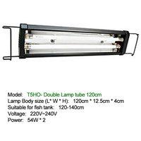 120 140cm with Extendable Brackets Aquarium LED Light Fish Tank T5HO Water Grass Lamp Double/Four Tubes Plant Aquatic 54W