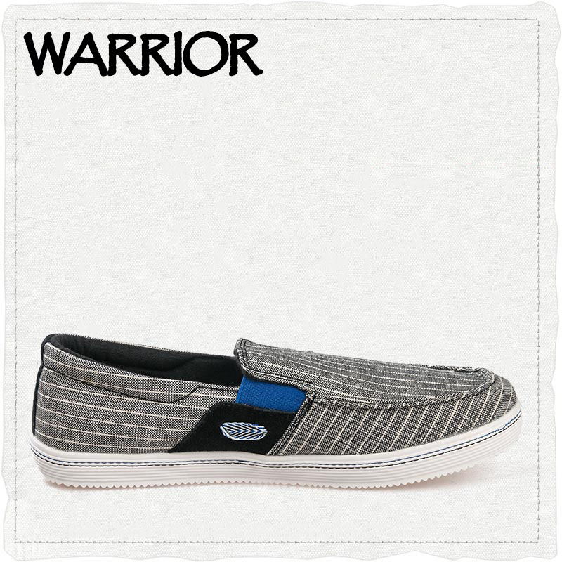 ФОТО WARRIOR Brand Summer Causal Shoes Men Loafers Canvas Moccasins Men Driving Shoes High Quality Flats For Man size 39-44