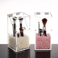 Transparent Acrylic Makeup Brushes Container Sundries Storage Case Holder Cosmetic Organizer Home Accessories HG99
