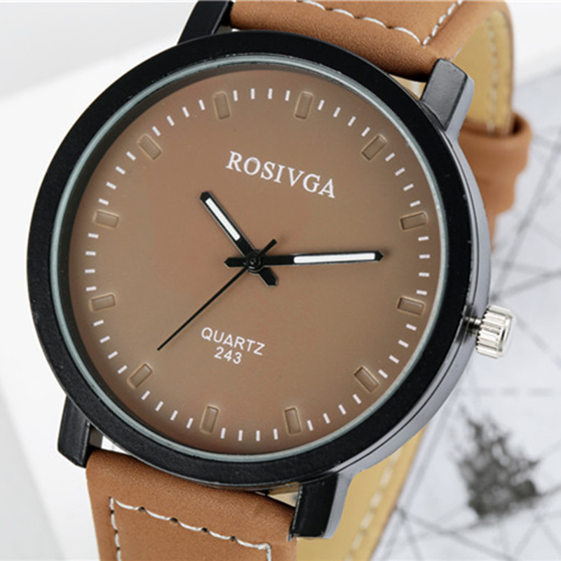 2017 NEW Fashion Simple Dial Watch Women Wrap Quartz Casual Watch Man Black White Khaki Dial Leather Wristwatch for Lover's цены