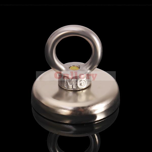 N35 42x39mm Eyebolt Ring Magnet Strong Magnet Salvage Tool