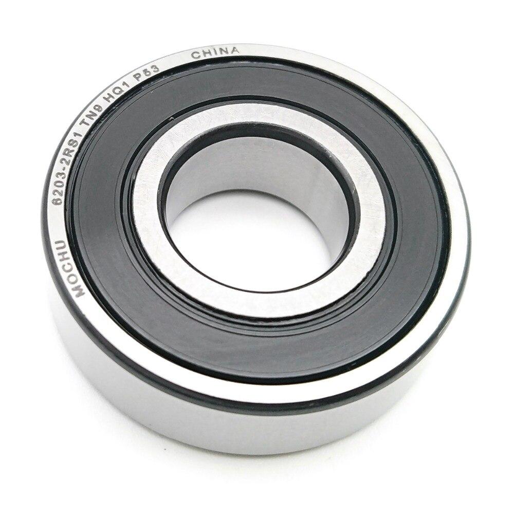 1pcs MOCHU Bearing 6203 6203-2RS1 TN9 HQ1 P53 6203 17x40x12 Hybrid Ceramic Ball Bearings Single Row Si3N4 Ball ABEC-5
