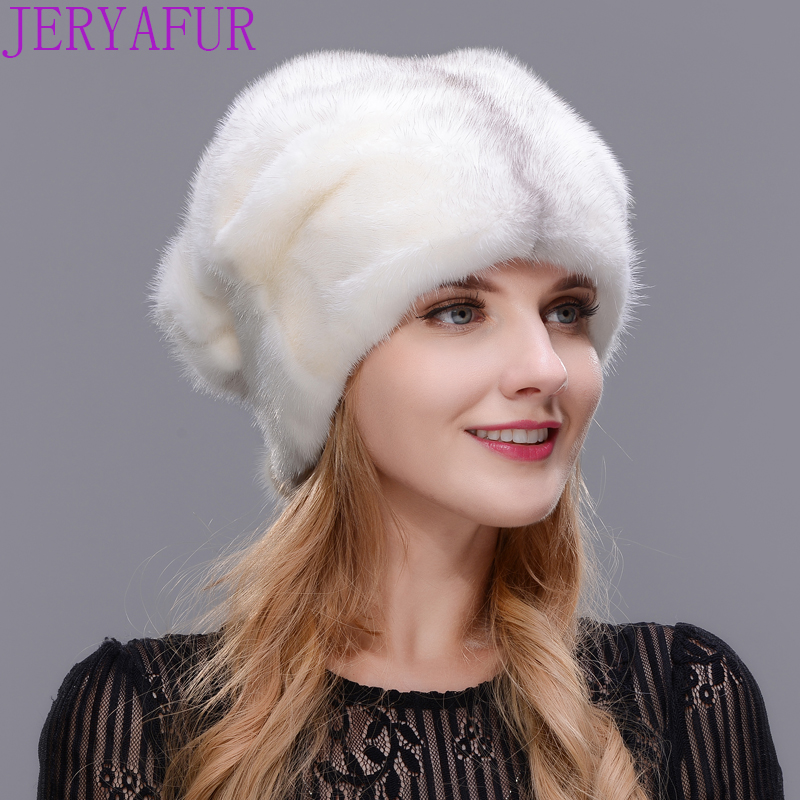Winter Women fur hat winter natural real mink board outdoor warm fur hat high quality fashion hat free to adjust the size simple lines 2017 fashion hat deserve to act the role of natural a warm hat lovely hair bulb the bulb can be removed