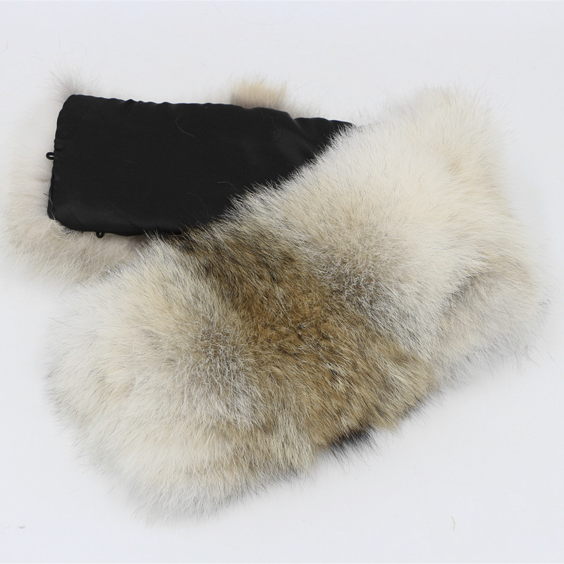 Real coyotes wolf collar for Down Jackets genuine fur raccoon collars real fur scarf winter hat