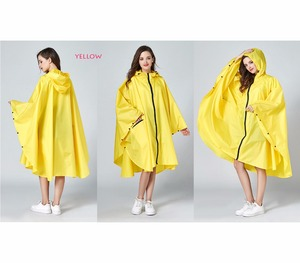 Image 3 - Womens Stylish Waterproof Rain Poncho Coloful Print Raincoat with Hood and Zipper