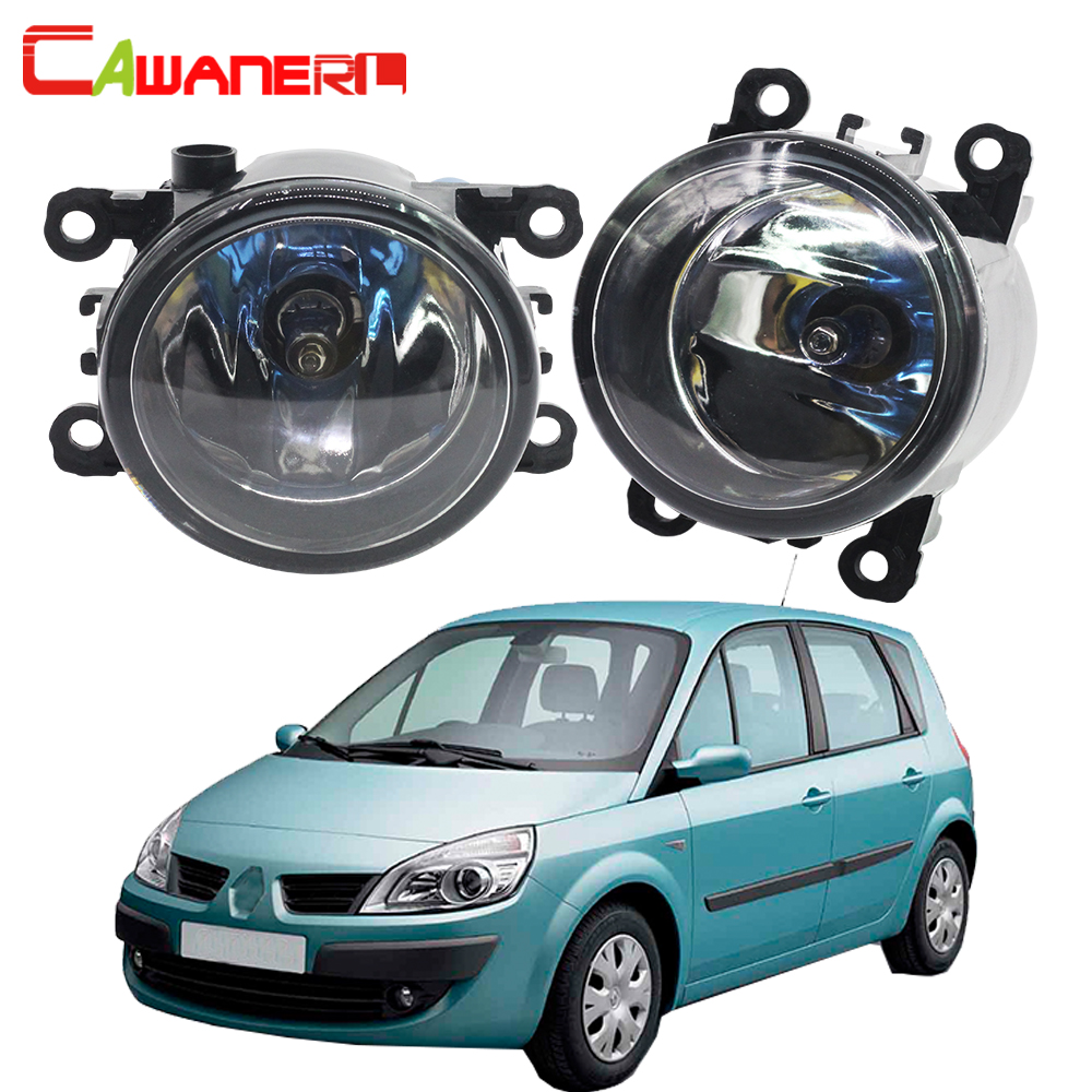 Cawanerl 2 Pieces 100W H11 Car Accessories Halogen Fog Light Daytime Running Lamp DRL 12V For Renault Scenic 2003-2015 cawanerl car styling led lamp fog light daytime running light drl 12v dc 2 pieces for renault scenic 2 ii jm0 jm1 mpv 2003 2009