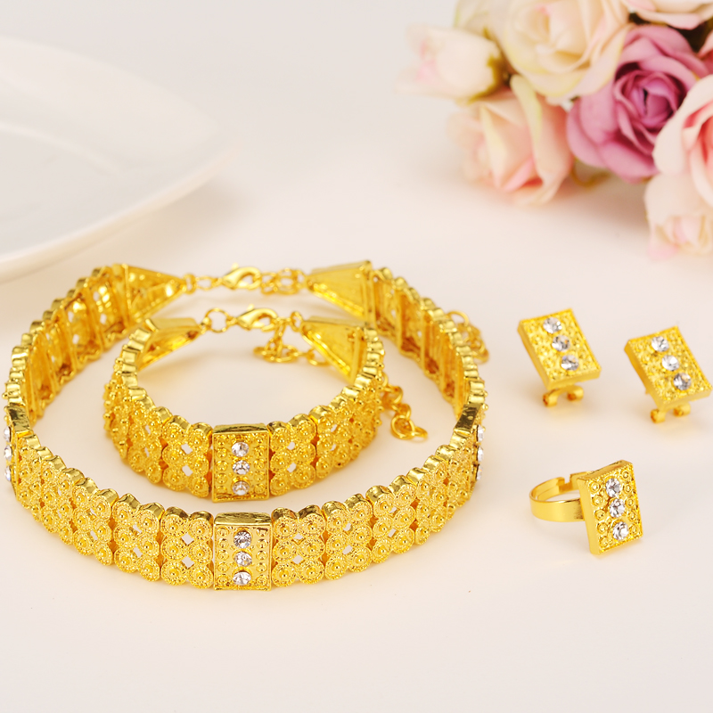 Bangrui Gold Color Ethiopian Jewelry sets Chokers Necklace ...