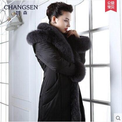 2016 new hot winter Thicken Warm woman Down jacket Coat Parkas Outerwear Hooded fox Fur collar long plus size 4XXXXL Luxury
