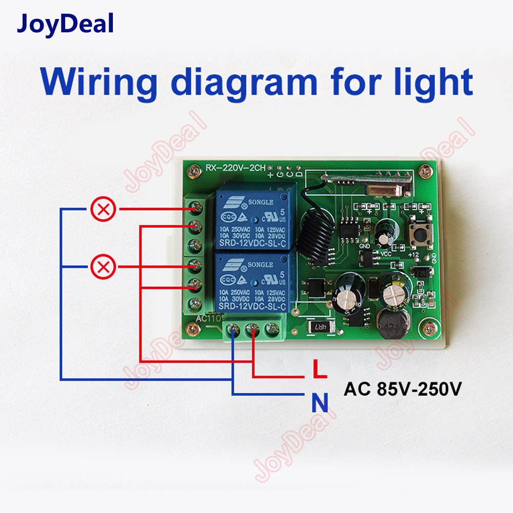433mhz Universal Wireless Remote Control Switch Ac 250v 110v 220v Wiring Diagram 2ch Relay Receiver Module And 433 Mhz 2 Channel In Switches From Lights