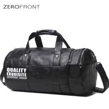 ZF High Capacity Fashion Travel Bags  Cylindrical shape Males bags Multifunction for Weekend Man 15.6 inch laptop