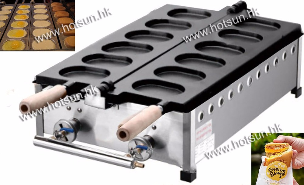 6pcs Commercial Use Non-stick LPG Gas Korean Egg Bread Gyeranbbang Machine Iron Baker Maker commercial use non stick lpg gas japanese takoyaki octopus fish ball maker iron baker machine