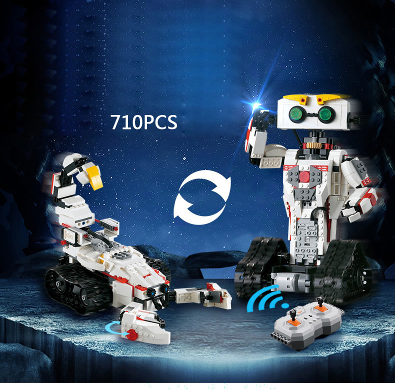 Funny 2in1 Smart Caca remote radio control robot Scorpion building block assemble bricks rc toys collection for children gifts pilsan scorpion remote control